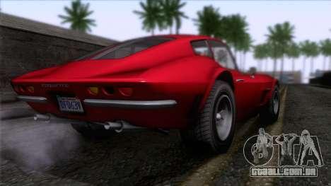 GTA 5 Invetero Coquette Classic HT para GTA San Andreas esquerda vista