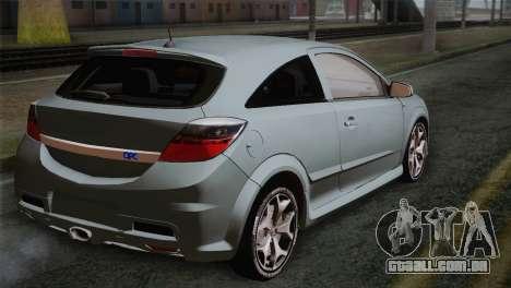 Opel Astra OPC Stock para GTA San Andreas esquerda vista