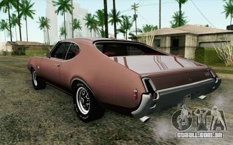Oldsmobile 442 Holiday Coupe 1969 HQLM para GTA San Andreas esquerda vista