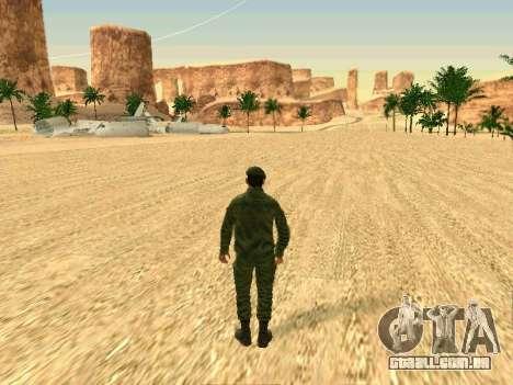 O militar russo está em uma nova forma para GTA San Andreas décimo tela
