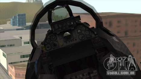 F-14 Neon Blue Macross Frontier para GTA San Andreas vista direita