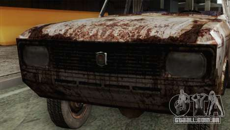 Russian Rustic Moskvitch para GTA San Andreas vista traseira