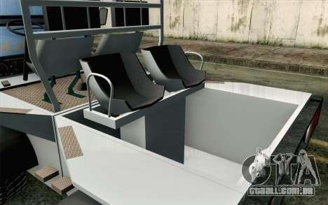 Dacia Logan MXP para GTA San Andreas vista traseira