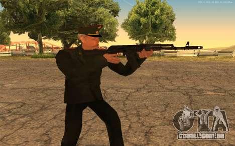 Coronel do exército russo para GTA San Andreas quinto tela