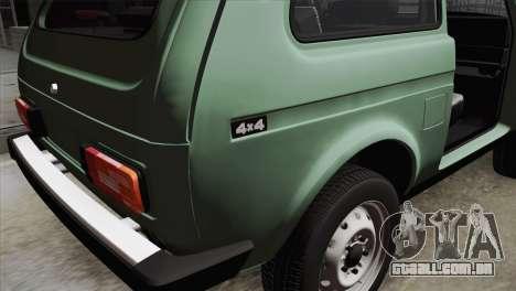 VAZ 2121 para GTA San Andreas vista traseira