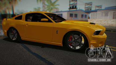 Ford Shelby GT500 2013 Vossen version para GTA San Andreas esquerda vista