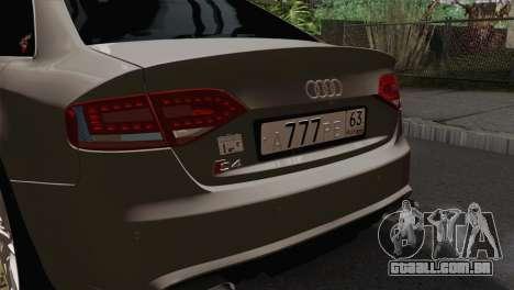Audi S4 Sedan 2010 para GTA San Andreas vista traseira