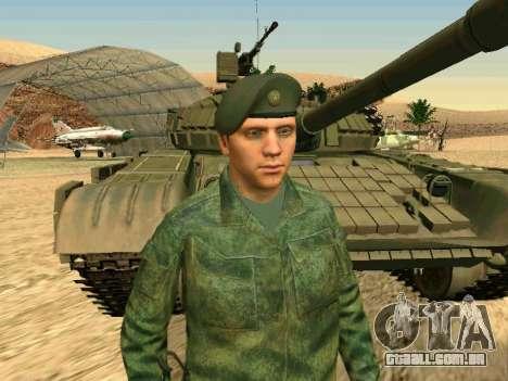 O militar russo está em uma nova forma para GTA San Andreas nono tela