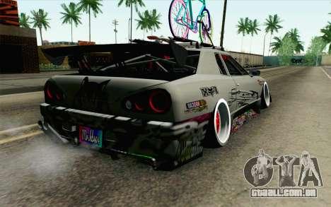 Elegy Modification para GTA San Andreas esquerda vista