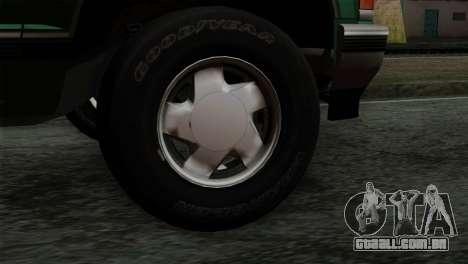 Chevrolet Suburban GMT400 1998 para GTA San Andreas traseira esquerda vista