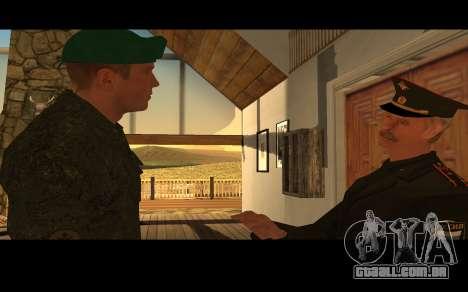 Coronel do exército russo para GTA San Andreas por diante tela