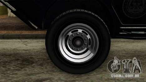 GTA 4 TBoGT Swatvan v2 para GTA San Andreas traseira esquerda vista