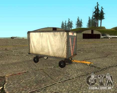 New Bagbox A para GTA San Andreas vista direita