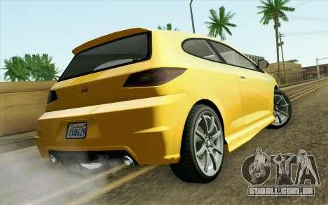 GTA V Dinka Blista IVF para GTA San Andreas esquerda vista
