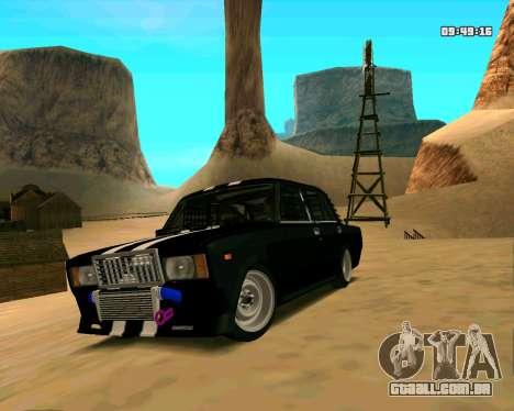 VAZ 2107 CÓLICAS para GTA San Andreas