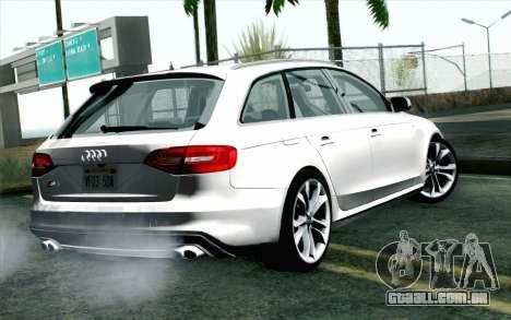 Audi S4 Avant 2013 para GTA San Andreas esquerda vista