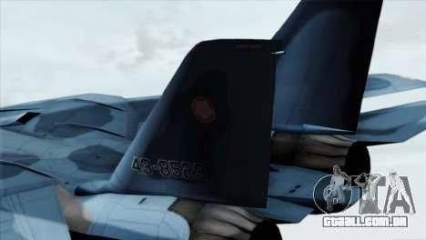 F-14 Japan Air Self Defense Force para GTA San Andreas traseira esquerda vista