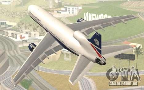 Lookheed L-1011 British Airways para GTA San Andreas esquerda vista