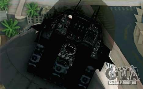 Mitsubishi F-2 White JASDF Skin para GTA San Andreas vista traseira