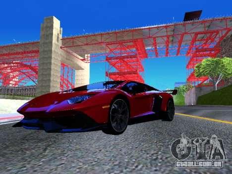 Lamborghini Aventador Novitec Torado para GTA San Andreas vista direita