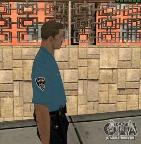 Israeli Police Officer para GTA San Andreas terceira tela