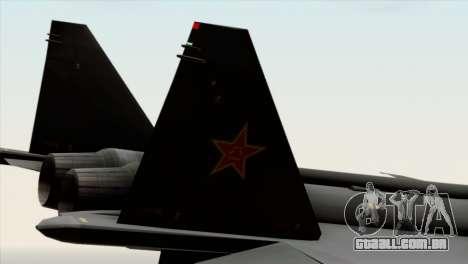 MIG 1.44 China Air Force para GTA San Andreas vista direita