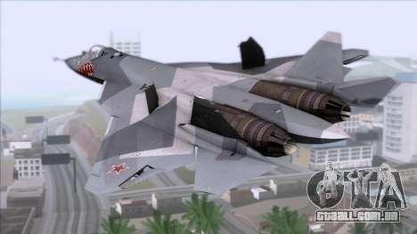 Sukhoi T-50 PAK FA Akula with Trinity para GTA San Andreas esquerda vista