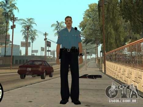Israeli Police Officer para GTA San Andreas quinto tela