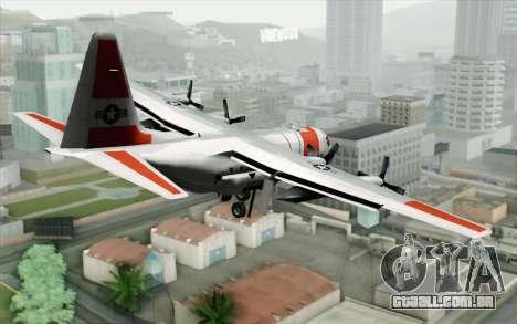 C-130H Hercules Coast Guard para GTA San Andreas esquerda vista