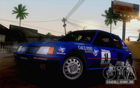 Peugeot 205 Turbo 16 1984 [IVF] para GTA San Andreas interior