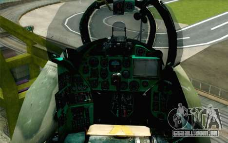 Mi-24D Polish Air Force para GTA San Andreas vista traseira