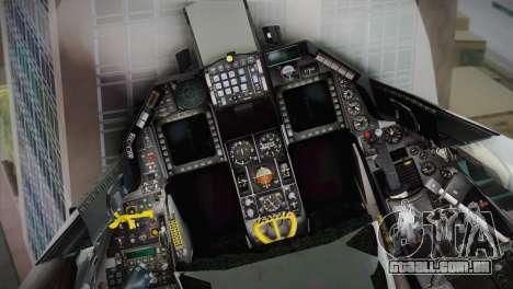 F-16 Fighting Falcon RNLAF para GTA San Andreas vista traseira