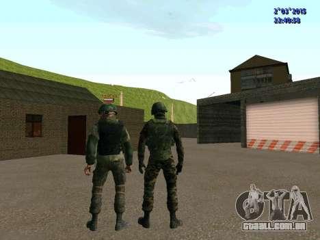 Guerreiro batalhão Leste para GTA San Andreas sexta tela