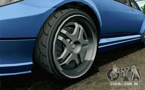 GTA 5 Benefactor Schafter para GTA San Andreas traseira esquerda vista