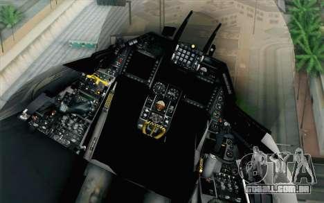 F-16 Fighting Falcon RNoAF PJ para GTA San Andreas vista traseira