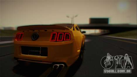 Ford Shelby GT500 2013 Vossen version para GTA San Andreas vista superior