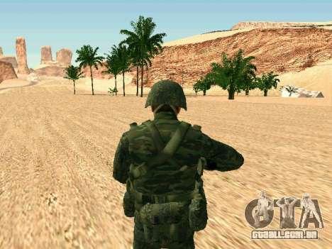 O militar russo está em uma nova forma para GTA San Andreas quinto tela