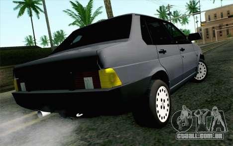 Fiat Regata para GTA San Andreas esquerda vista