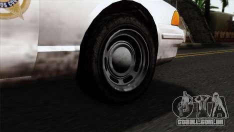 GTA 5 Vapid Stanier Sheriff para GTA San Andreas traseira esquerda vista