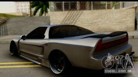 Honda NSX Street Killer para GTA San Andreas esquerda vista