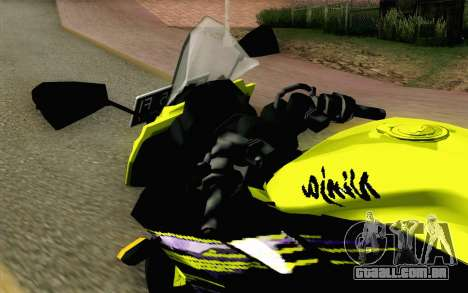 Kawasaki Ninja 250RR Mono Yellow para GTA San Andreas vista traseira