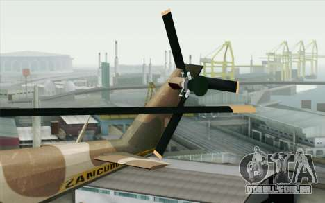 Savage GTA 5 v1.2 para GTA San Andreas traseira esquerda vista