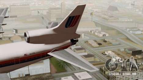 Lookheed L-1011 United Als para GTA San Andreas traseira esquerda vista
