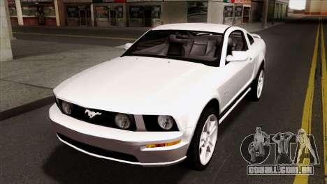Ford Mustang GT PJ Wheels 1 para GTA San Andreas vista interior