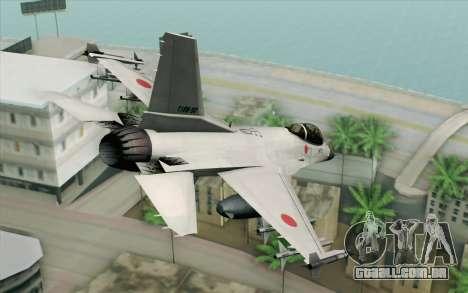 Mitsubishi F-2 White JASDF Skin para GTA San Andreas esquerda vista