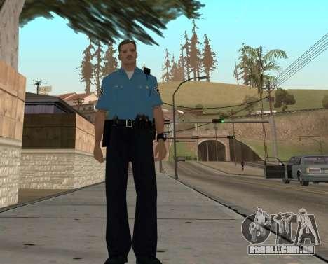Israeli Police Officer para GTA San Andreas sexta tela