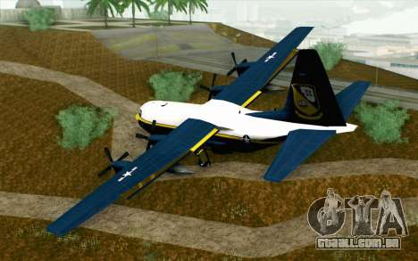 C-130H Hercules Blue Angels para GTA San Andreas esquerda vista