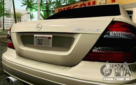 Mercedes-Benz CLK DTM 2004 para GTA San Andreas vista traseira