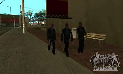 Alteração de áreas de gangues e suas armas v1.1 para GTA San Andreas oitavo tela