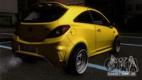 Opel Corsa OPC para GTA San Andreas esquerda vista
